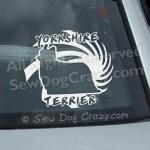 Yorkie Car Window Stickers