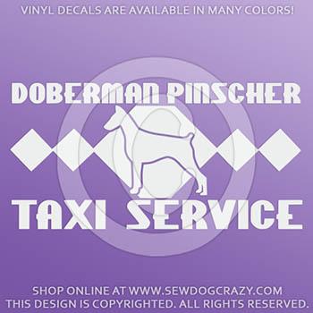 Doberman Taxi Car Decal