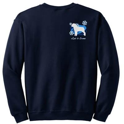 Snowflakes Rottweiler Sweatshirt