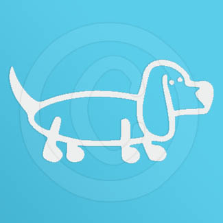 Basset Hound Stick Figure Decal
