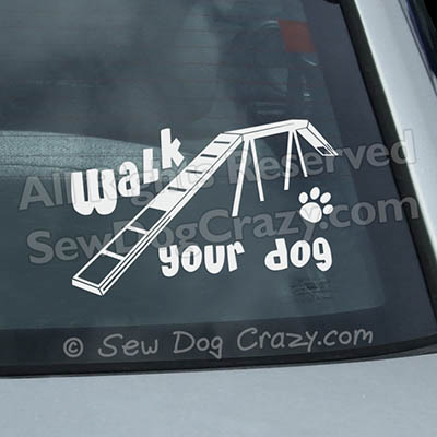 Agility Dog Car Decals