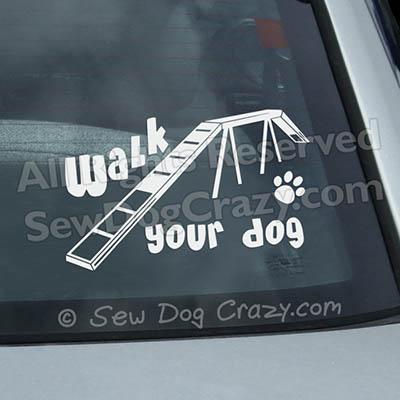 Agility Dog Car Decals