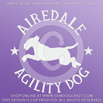 Airedale Agility Decals