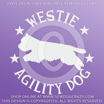 Westie Agility Decals