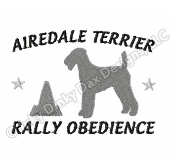RallyO Airedale Embroidery
