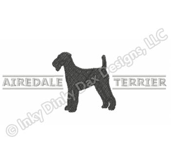 Airedale Terrier Embroidery