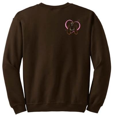 Heart Basset Hound Embroidered Sweatshirt