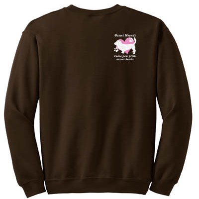 Cute Basset Hound Embroidered Sweatshirt