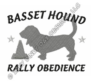 Basset Hound Rally-O Embroidery