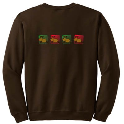 Country Embroidered Reindeer Sweatshirt