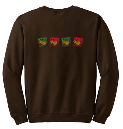 Country Embroidered Reindeer Sweatshirt