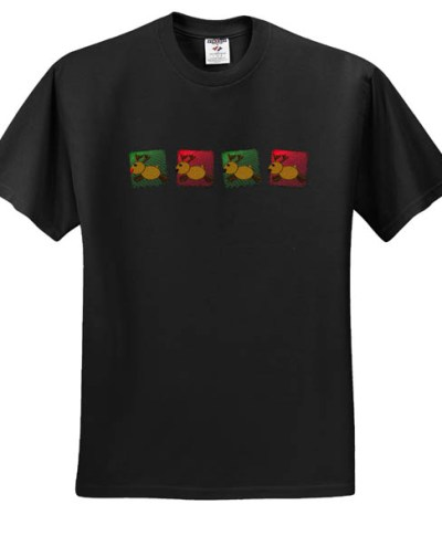 Holiday Reindeer Embroidered Shirt