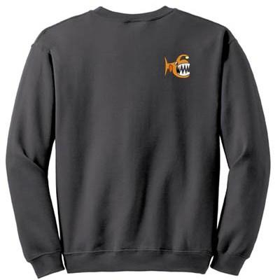 Angler Fish Embroidered Sweatshirt