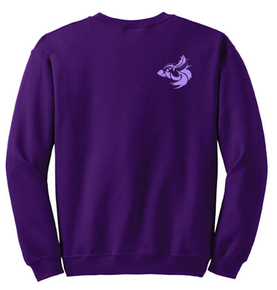 Flashing Fins Fish Embroidered Sweatshirt