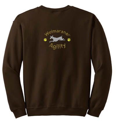 Cartoon Weimaraner Agility Sweatshirt