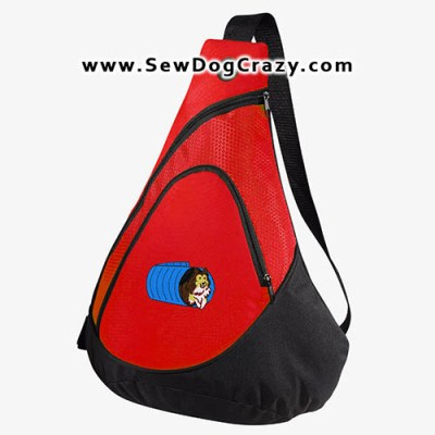 Cartoon Sheltie Agility Tunnel Bag
