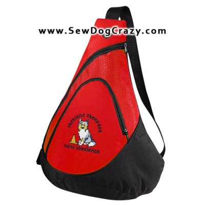 Embroidered Sheltie Rally Obedience Bag