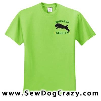Wheaten Terrier Agility Tshirts