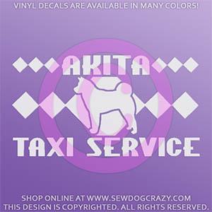 Akita Taxi Car Decal