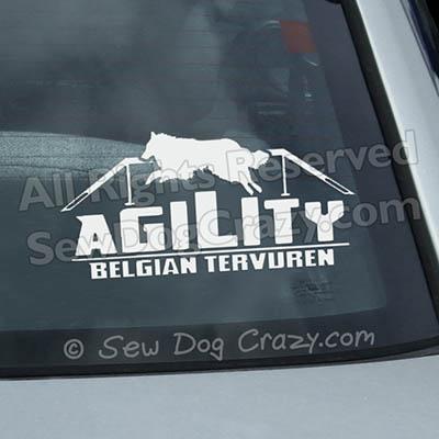 Tervuren Agility Car Window Stickers