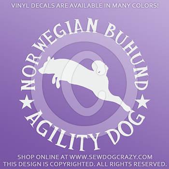 Buhund Agility Decals