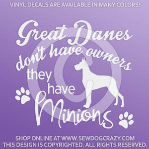 Funny Great Dane Decals