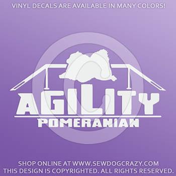Pomeranian Agility Decals