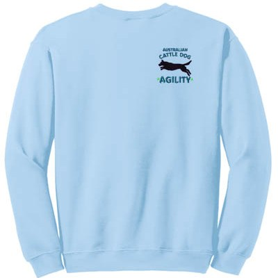 Embroidered Blue Heeler Agility Sweatshirt