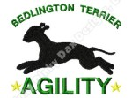 Bedlington Terrier Agility Embroidery