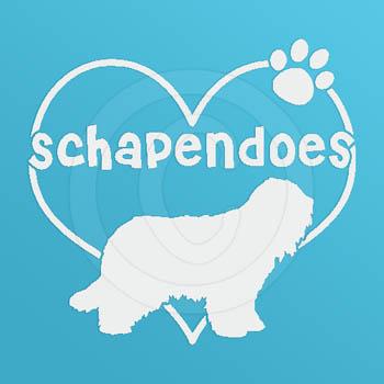 I Love Schapendoes Decals