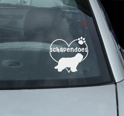 Vinyl Schapendoes Stickers for Cars