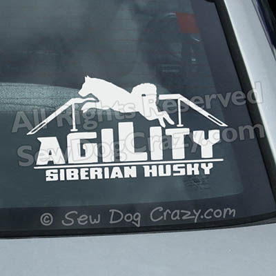 Vinyl Siberian Husky Window Decals