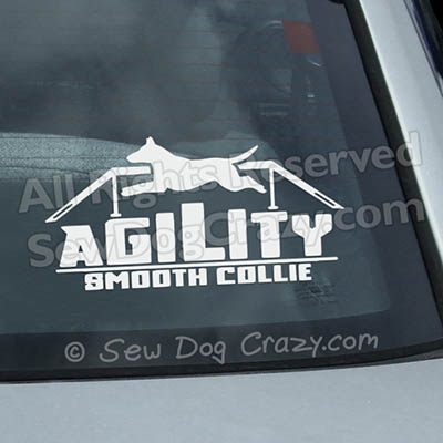 Smooth Collie Agility Window Decals