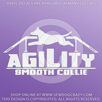 Smooth Collie Agility Car Stickers