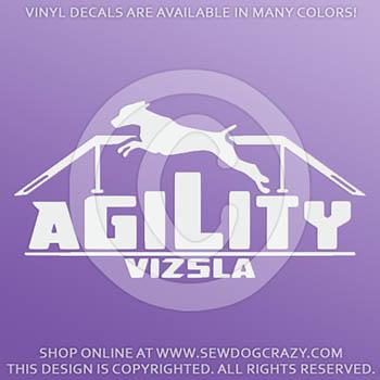 Vizsla Agility Dog Walk Vinyl Sticker