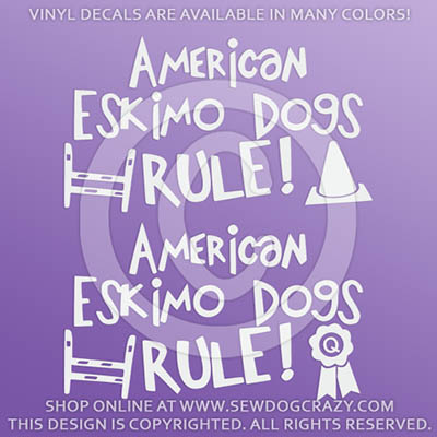 Eskimo Dogs Rule Vinyl Decals