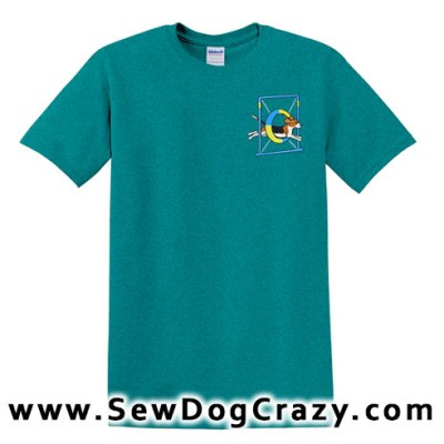 Embroidered Beagle Tire Jump Tshirt
