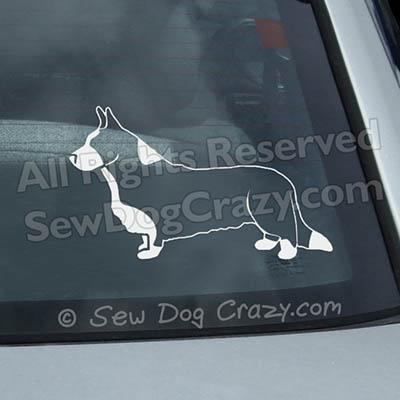 Stacked Cardigan Welsh Corgi Window Stickers