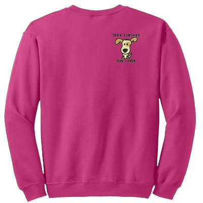 Certified Dog Lover Embroidered Sweatshirt