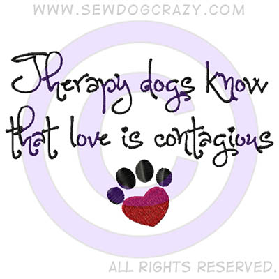 Embroidered Therapy Dog Shirts