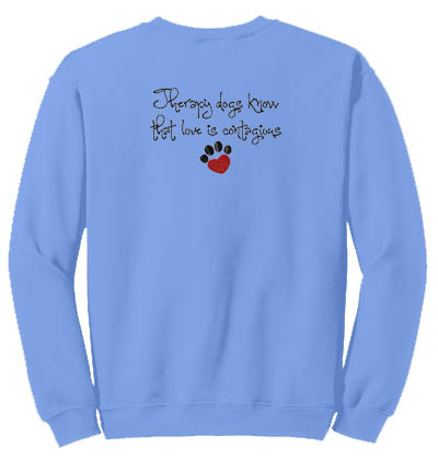 Embroidered Therapy Dog Sweatshirt