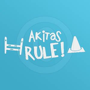 Unique Akitas Rule Decal