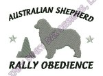 Australian Shepherd Rally Obedience Apparel Embroidery