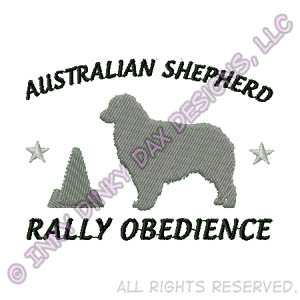 Australian Shepherd Rally Obedience Apparel Embroidery