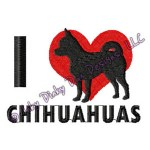 I Love Chihuahuas Embroidery