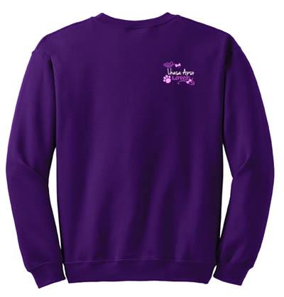 Embroidered Lhasa Apso Sweatshirt