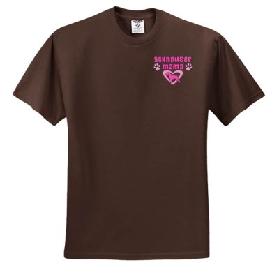 Embroidered Schnauzer Mom Shirt