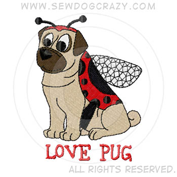 Ladybug Pug Cartoon Shirts