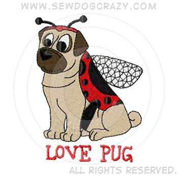 Ladybug Pug Cartoon Shirts