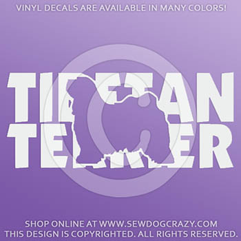 Vinyl Tibetan Terrier Stickers